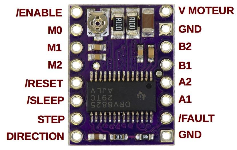 Arduino & Driver de moteur pas à pas DRV8825 - /dev/tbo
